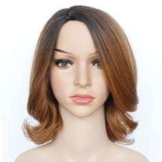 Curly Mid-Length Synthetic Wigs African American Wigs (219123442)