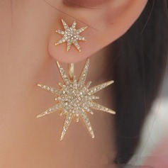 Shining Alloy Rhinestones Ladies' Fashion Earrings (Sold in a single piece) (137091580)