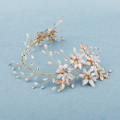 Beautiful Alloy Headbands With Rhinestone/Venetian Pearl (Sold in single piece)