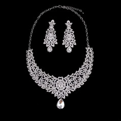 Unique Alloy Gold Plated With Rhinestone Imitation Stones Ladies' Jewelry Sets (Set of 3)