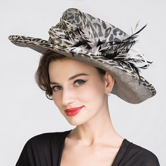 Senhoras Atraente Primavera/Verão Cambraia com Chapéu de Coco / Cloche de Chapéu