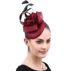Damen Handgemacht/heißeste Batist mit Seide Blumen Kopfschmuck/Kentucky Derby Hüte