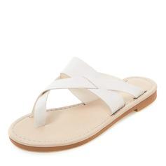 Vrouwen Kunstleer Flat Heel Sandalen Flats Peep Toe Slingbacks Slippers schoenen