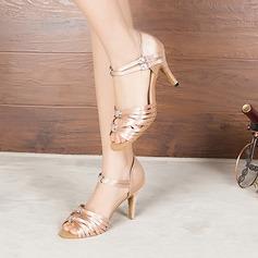 Femmes Satiné Talons Sandales Escarpins Latin Chaussures de danse