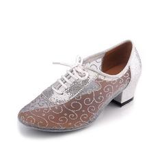Women's Leatherette Heels Ballroom Practice Dance Shoes