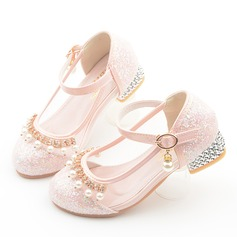 Girl's Round Toe Closed Toe Leatherette Flower Girl Shoes (207200936)