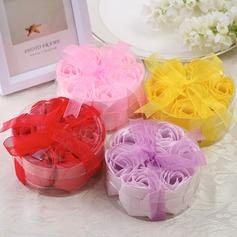 7 Piezas Bonito Rose Jabones con Cintas