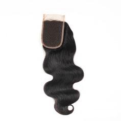 """4""""*4"""" 4A Non remy Corps les cheveux humains Fermeture (Vendu en une seule pièce) 100 g"""
