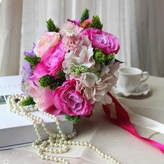 Изысканный Круглый Атлас/Искусственного шелка Свадебные букеты -