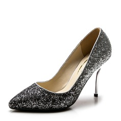 Women's Sparkling Glitter Stiletto Heel Pumps Closed Toe With Others shoes (085147461)