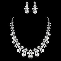 Maravilloso Aleación/Diamantes de imitación Sistemas de la joyería