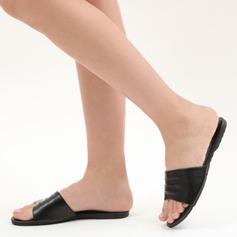 Kvinnor PU Flat Heel Sandaler Platta Skor / Fritidsskor Peep Toe Slingbacks med Andra skor
