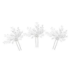 Dame Gorgeous Crystal Hårnåle med Crystal (Sæt af 3)
