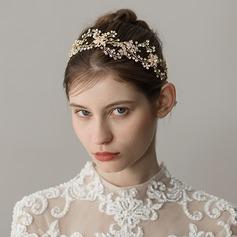 Dame Særlige Legering Pandebånd med Venetiansk Perle (Sælges i et enkelt stykke)