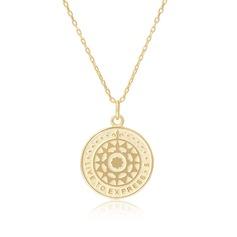 18 k forgyldt sølv Cirkel Vedhæng halskæde Disker og cirkler - Julegaver