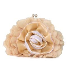 Härlig Chiffong med Blomma Grepp
