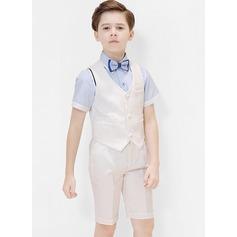 мальчиков 4 шт. классический Костюмы кольценосцев /Page Boy Костюмы с Рубашка запад петля шорты