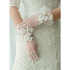 Tulle Wrist Length Bridal Gloves (014125674)