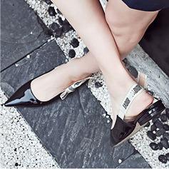 De mujer Piel brillante Tacón plano Planos Cerrados Solo correa con Bowknot zapatos