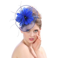женские Элегантные/Уникальный/восхитительно батист с перо/Цветок Вуалью