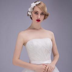 Hecha a mano Crystal/Rhinestone/Aleación/La perla de faux Peines y pasador/Flores y plumas