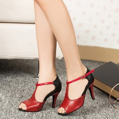 Women's Pumps Latin With T-Strap Dance Shoes
