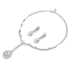 Classic Alloy With Crystal Ladies' Jewelry Sets