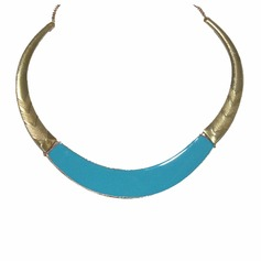 Exotic Alloy Coloured Glaze Women's Fashion Necklace