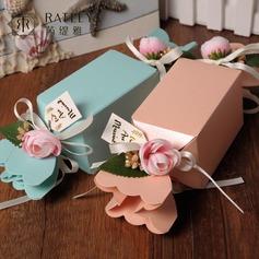Design de bonbon Cubique Vases de bonbon et bouteilles avec Fleur(s) (Lot de 12)