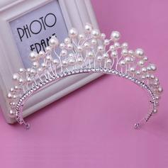 Filles Style Classique Strass/De faux pearl Tiaras