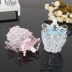Zoete Liefde/Creatief Fles vormige Plastische Snoeppotten met Veters (Set van 12)