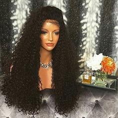 4A Nicht remy Kinky Gelockt Menschliches Haar Spitze Front Perücken