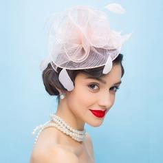 Dames Style Vintage Organza avec Feather Chapeaux de type fascinator