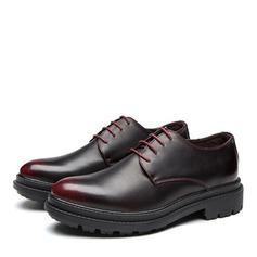 Homens Couro Aplicação de renda Derbies Sapatos De Vestido Oxfords Masculinos