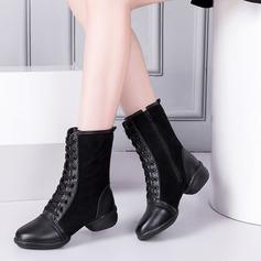 De mujer Cuero Ante Botas Zapatillas Estilo Moderno Jazz Zapatillas botas de danza Zapatos de danza