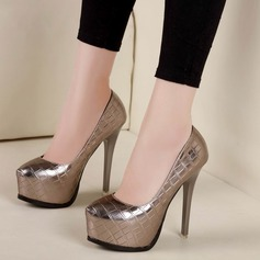 Women's Leatherette Stiletto Heel Pumps Platform With Others shoes