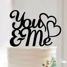 Letter Acrylic Cake Topper (Set of 2) (119103302)