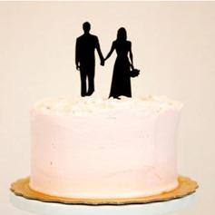 классический Пара акрил Свадьба Фигурки для торта/Свадебный душ Фигурки для торта