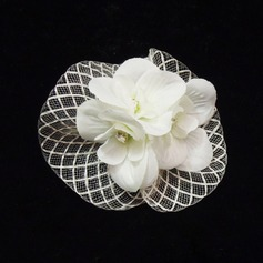 Lovely Rhinestone/Net Yarn Fascinators