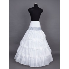 Women Nylon/Satin Floor-length 4 Tiers Petticoats