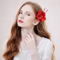 Schöne Seide Blumen Blumen und Federn (In Einem Stück Verkauft)