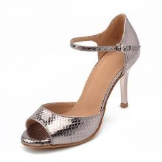Женщины кожа Сандалии Латино Обувь для танцев