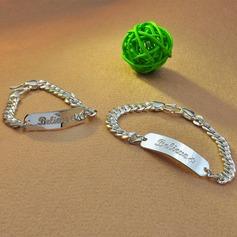 Personaliseret Ladies ' Udsøgt 925 Sterling Sølv Graverede Armbånd Armbånd Brudepige/Blomst pige