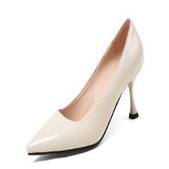 Frauen Lackleder Andere Absatzschuhe Geschlossene Zehe Schuhe