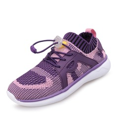 Girl's Mesh Flat Heel Round Toe Closed Toe Sneakers Sneaker & Athletic With Lace-up