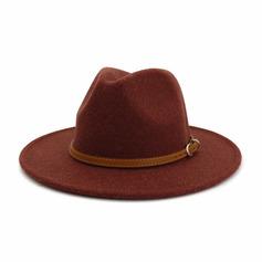 Menn Klassisk stil/Enkel ull blandning Fedora Hat (196220668)