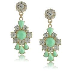 Fashional Alloy Rhinestones Resin Ladies' Fashion Earrings