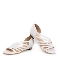 Vrouwen Kunstleer Low Heel Sandalen Peep Toe met Anderen schoenen