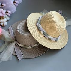 Senhoras Especial/Charmosa/Elegante/Simples/Atraente/Fantasia Ráfia de palha com borboleta imitação Chapéu de palha