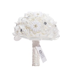 Round Silk/Foam Bridal Bouquets/Bridesmaid Bouquets (Sold in a single piece) -